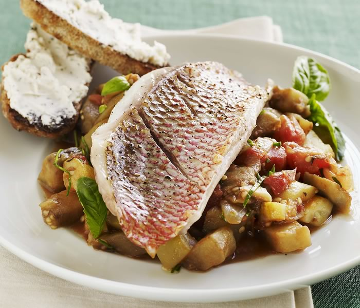 Ratatouille with Red Snapper