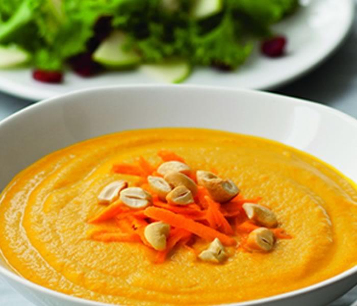 Savory Carrot-Cashew Soup