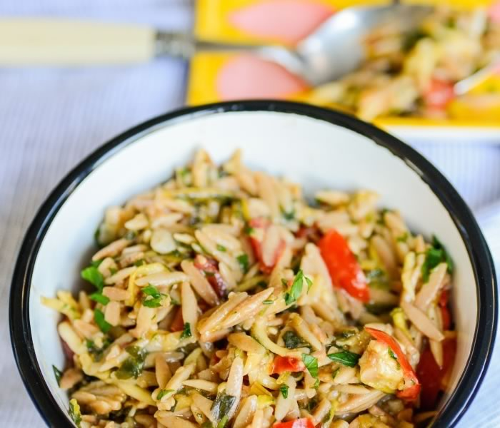 Orzo Garden Pilaf with Lemon and Herbs
