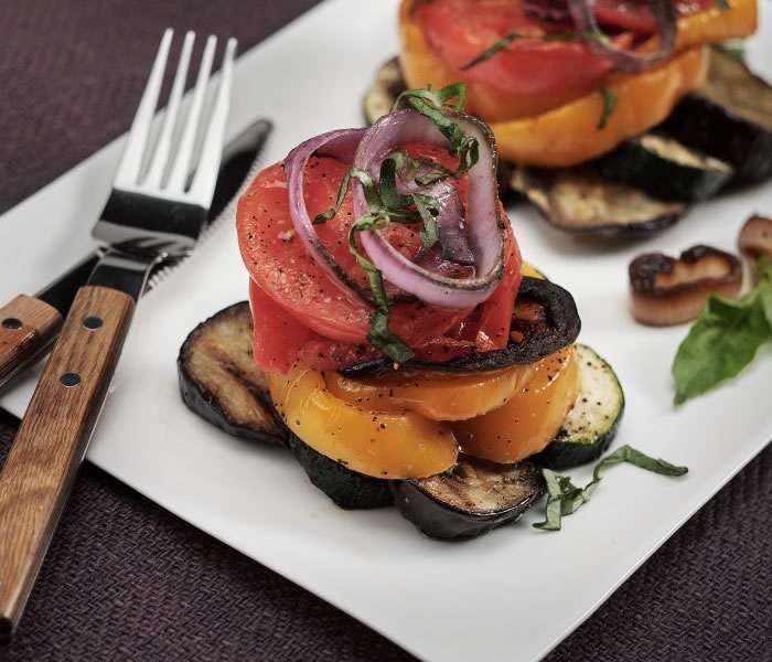 Grilled Vegetable Stacks