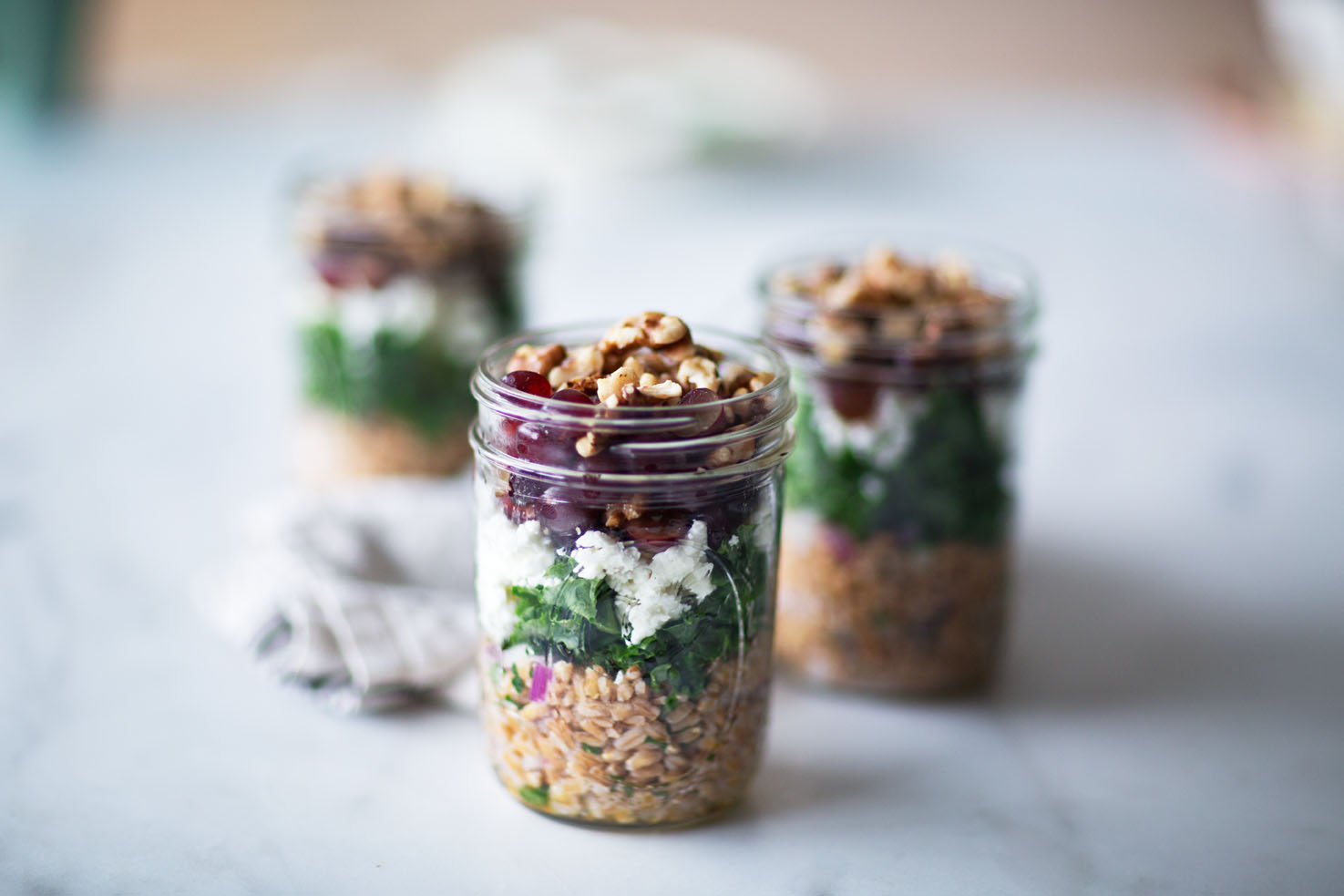 Layered Farro Salad