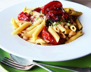 Penne with Roasted Tomatoes, Garlic, and White Beans-Small2