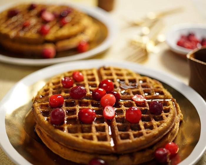 Pumpkin Cranberry Waffles