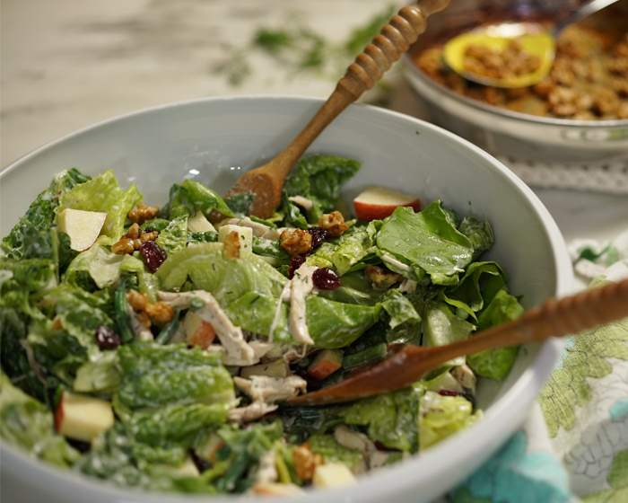 Green Salad with Chicken and Buttermilk Dressing