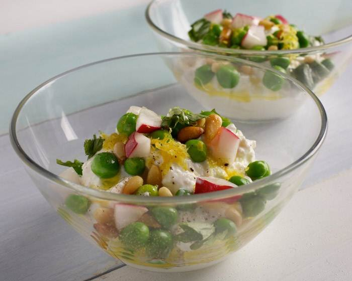 Spring Cottage Peas with Basil