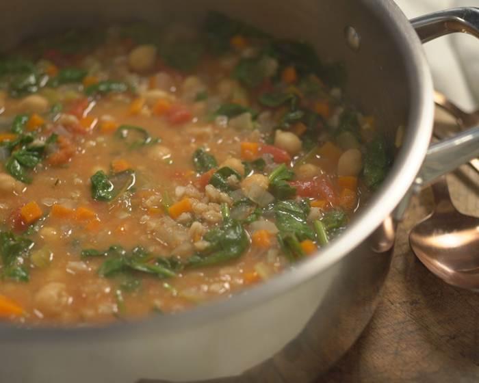 Chickpea and Farro Stew
