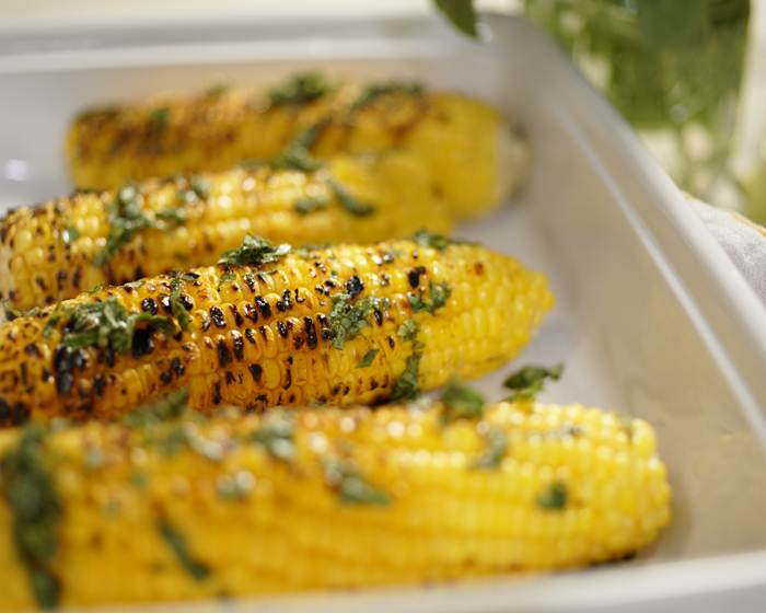 3- Ingredient Grilled Corn with Lime and Basil