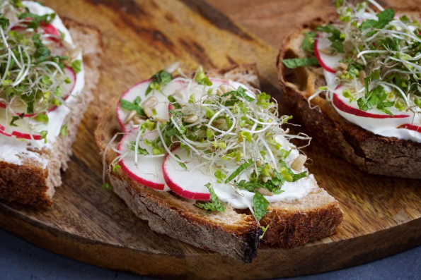 Spring Toast With Labneh