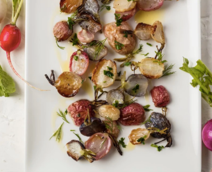 Roasted Radishes with Herbs