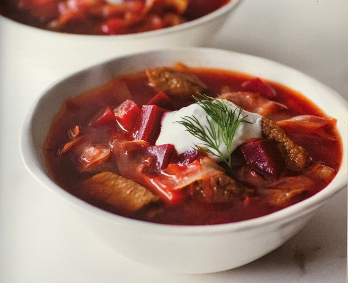 Russian Beef And Vegetable Soup Borscht Ellie Krieger