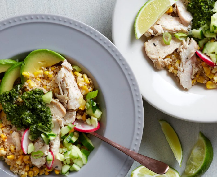 Corn and Quinoa Bowls With Herb Sauce