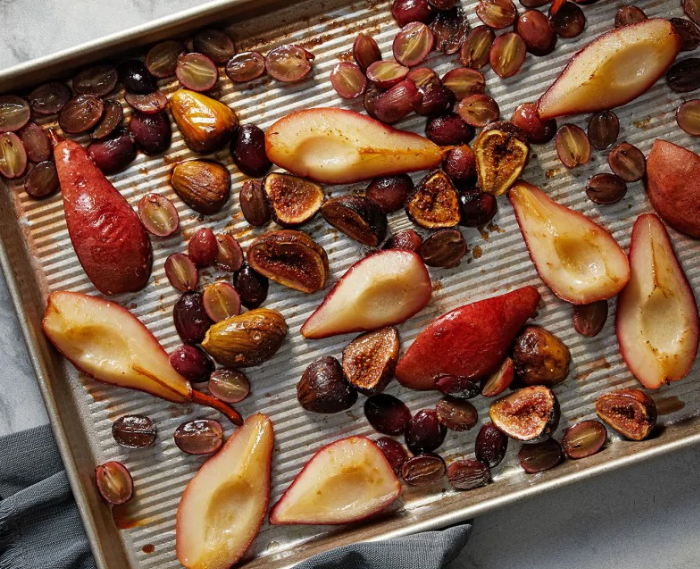 Roasted Fall Fruit With Balsamic-Ginger Glaze
