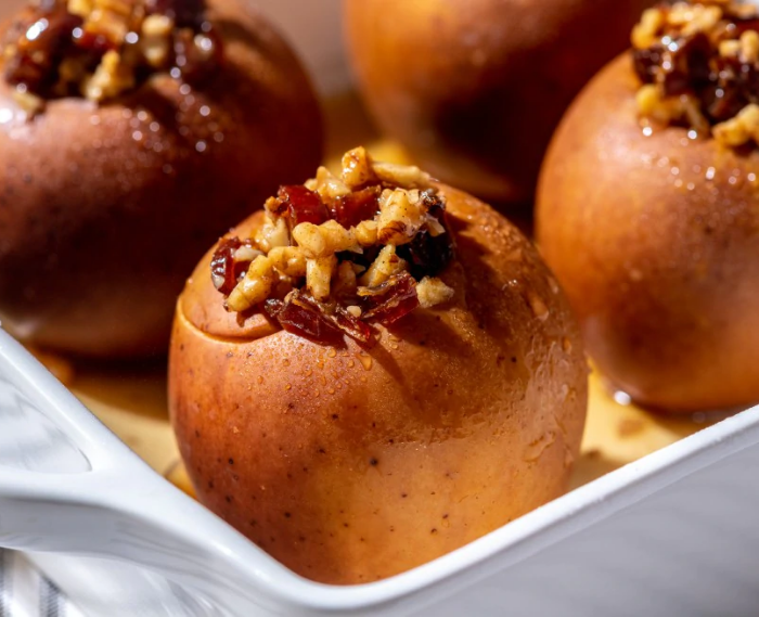Walnut and Date-Stuffed Baked Apples
