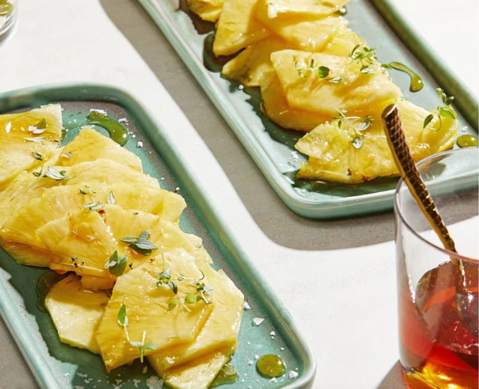 Fresh Pineapple With Warm Spice-Infused Honey